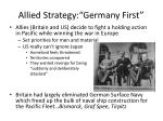 allied strategy germany first