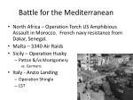 battle for the mediterranean