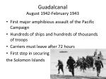 guadalcanal august 1942 february 1943