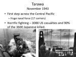 tarawa november 1943