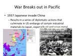 war breaks out in pacific
