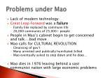 problems under mao