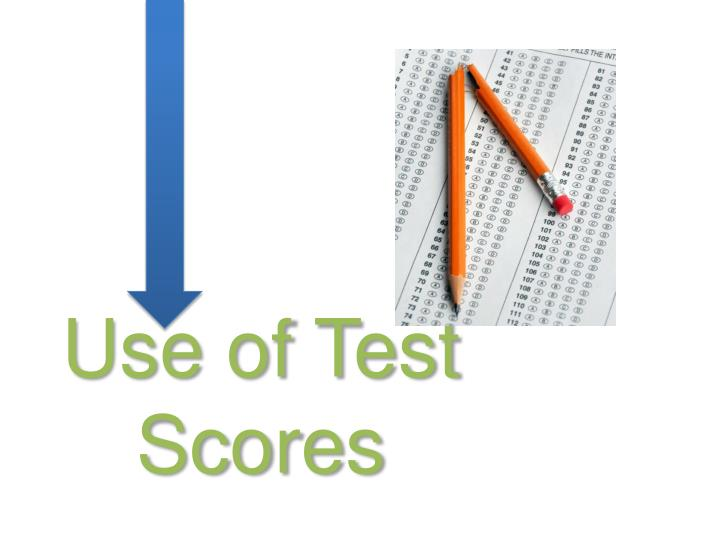 Use of Test Scores