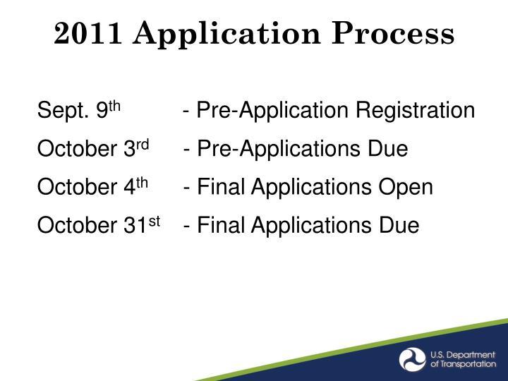 2011 Application Process
