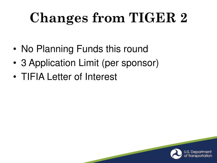 Changes from TIGER 2
