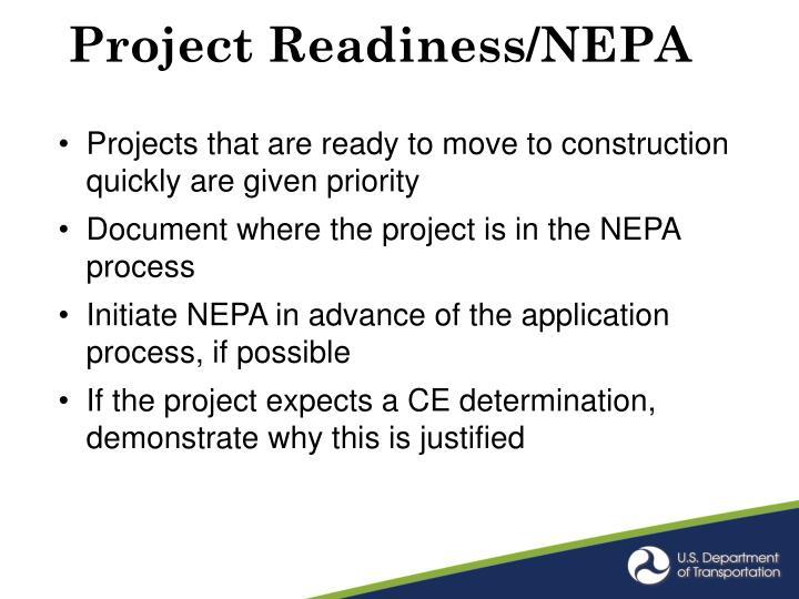 Project Readiness/NEPA