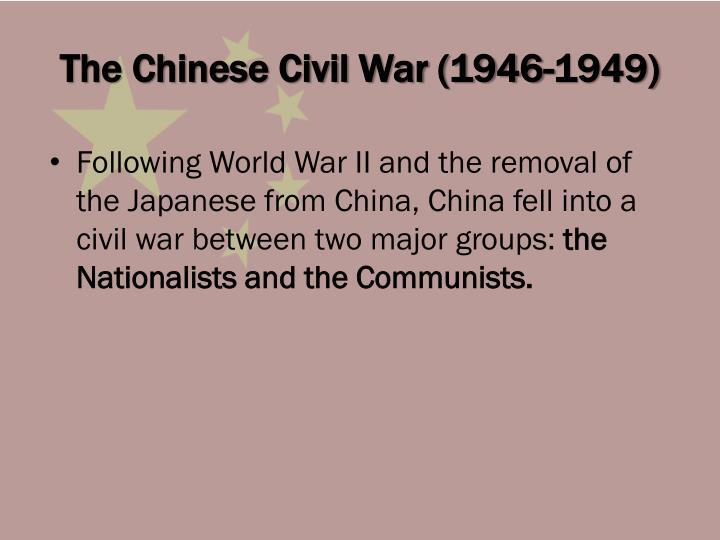 The chinese civil war 1946 1949