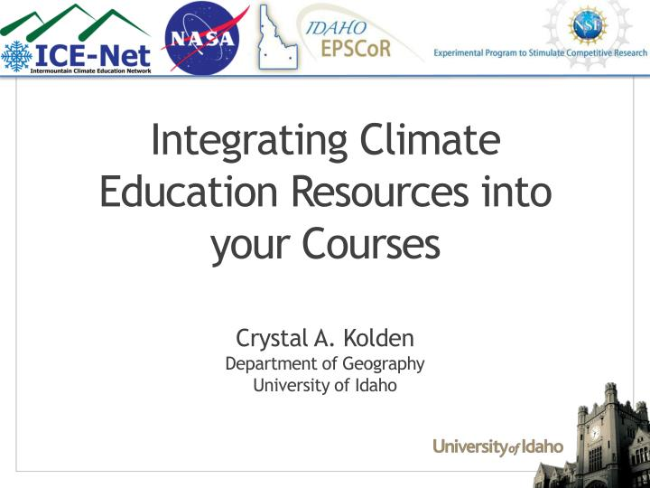 integrating climate education resources into your courses n.