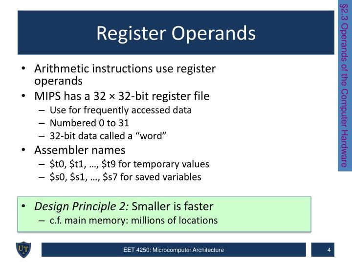 Register Operands