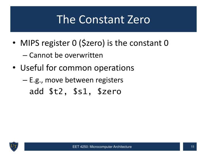 The Constant Zero