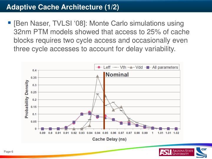 Adaptive Cache Architecture (1/2)