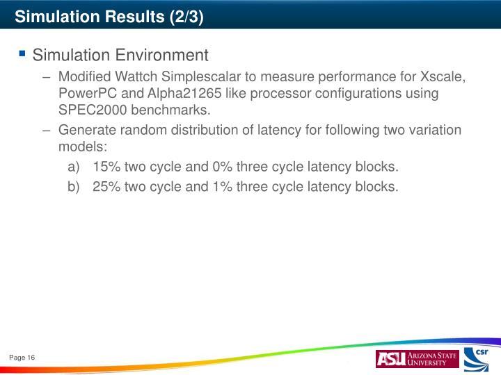 Simulation Results (2/3)