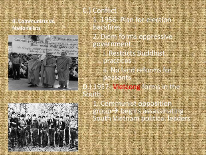 II. Communists vs. Nationalists