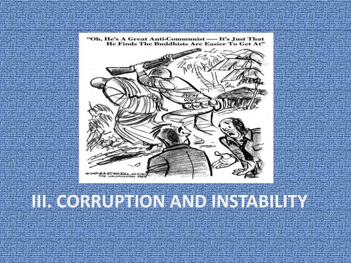 iii. Corruption and instability