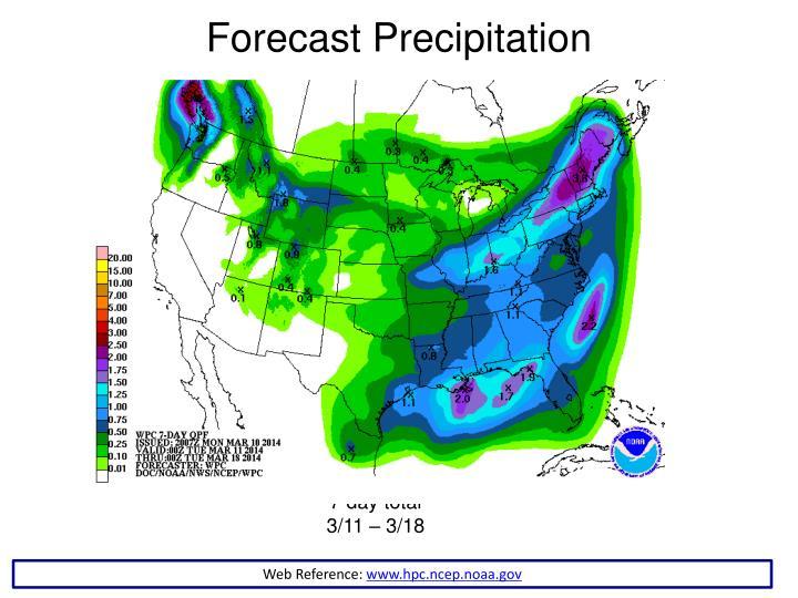 Forecast Precipitation