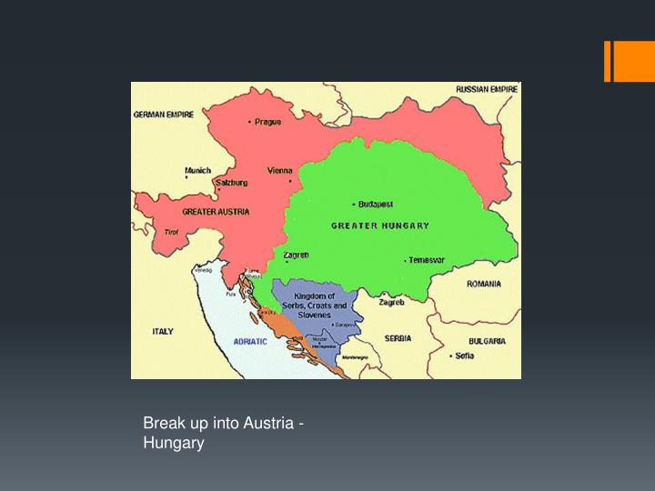 Break up into Austria -  Hungary