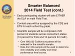 smarter balanced 2014 field test cont