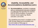 usability accessibility and accommodations guidelines cont1