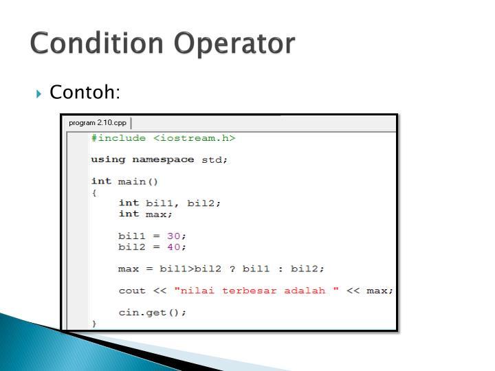 Condition Operator