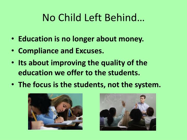 no child left behind and school accountability education essay 1 1 introduction the no child left behind act (nclb) of 2002 gave the federal government the authority to hold schools accountable to uniform standards.