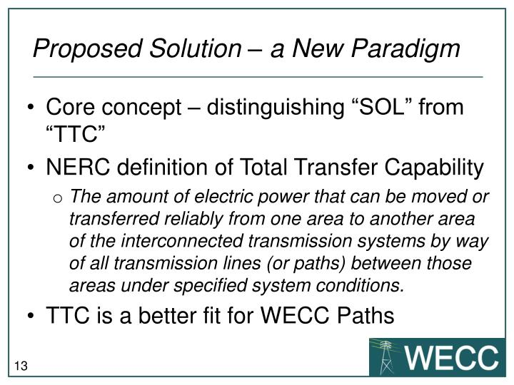 Proposed Solution – a New Paradigm