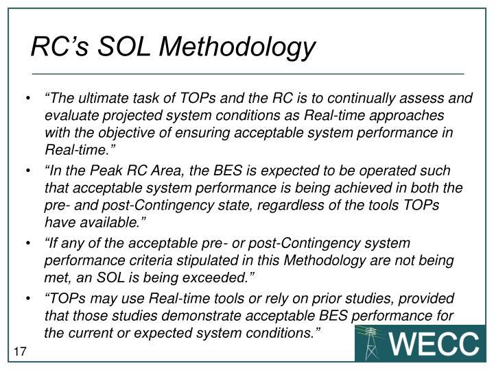 RC's SOL Methodology