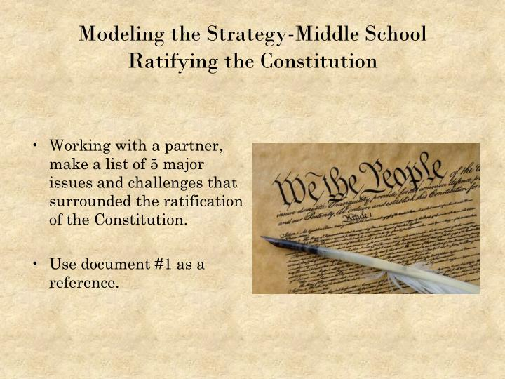Modeling the Strategy-Middle School