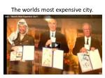 the worlds most expensive city