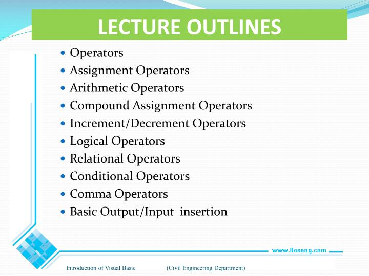 Lecture outlines1