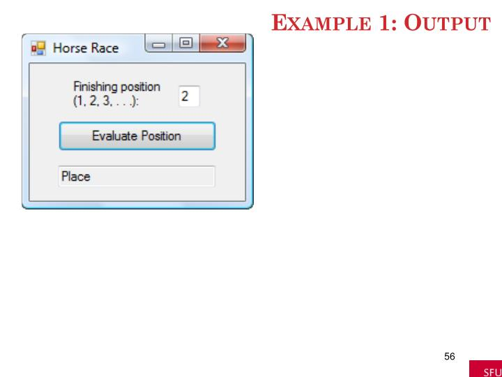 Example 1: Output