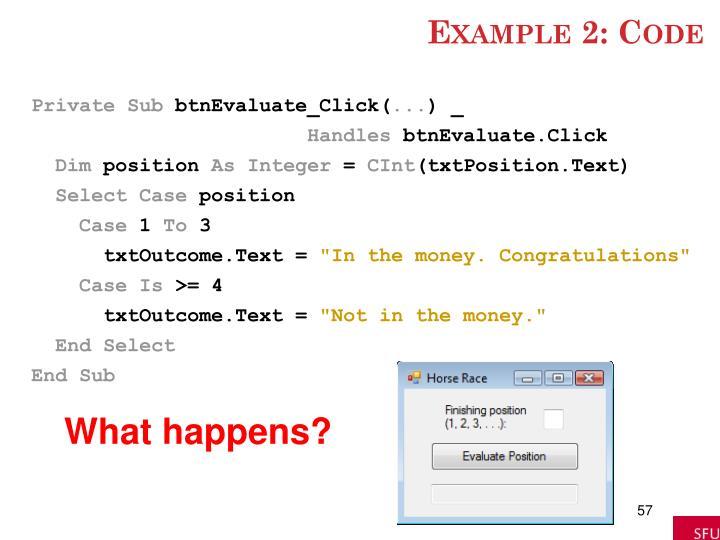 Example 2: Code