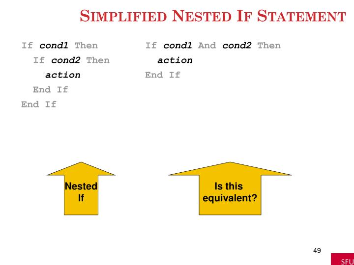 Simplified Nested If Statement