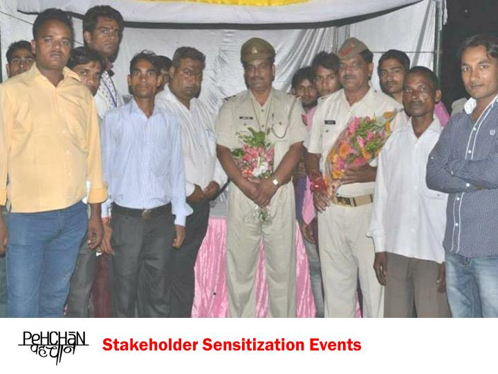 Stakeholder Sensitization Events