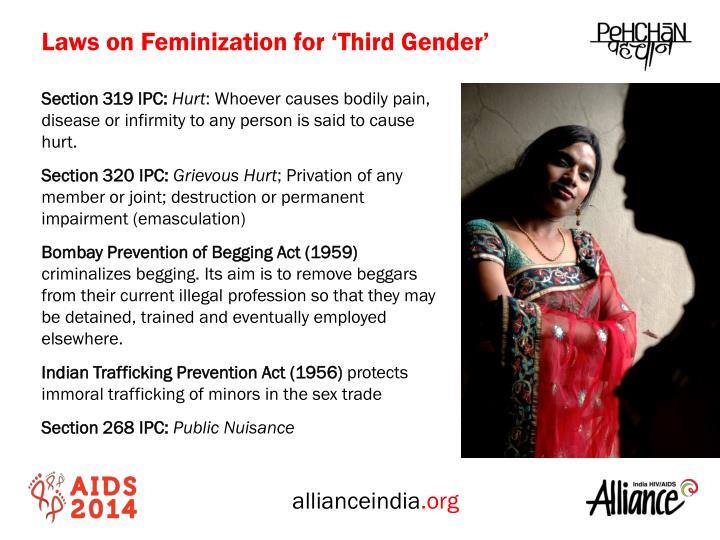Laws on Feminization for 'Third Gender'