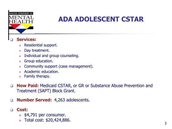 Ada adolescent cstar