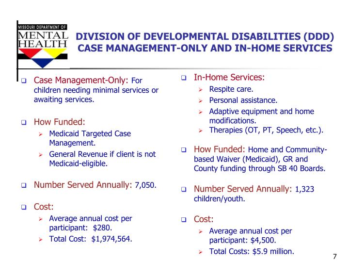 DIVISION OF DEVELOPMENTAL DISABILITIES (DDD)