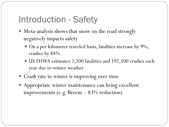 Introduction - Safety