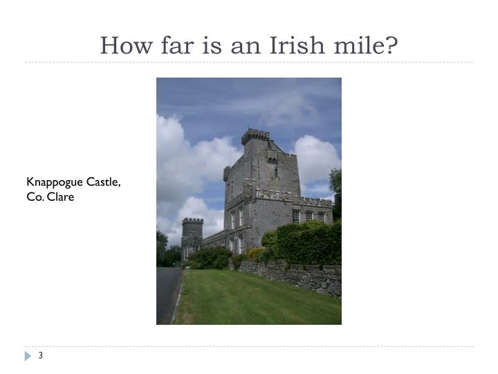 How far is an irish mile