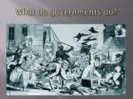 what do governments do