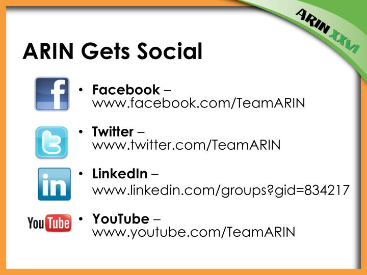 ARIN Gets Social