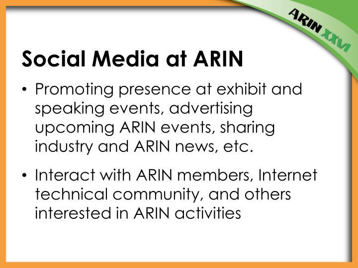 Social Media at ARIN