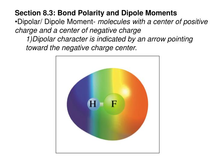 Section 8.3: Bond Polarity and Dipole Moments