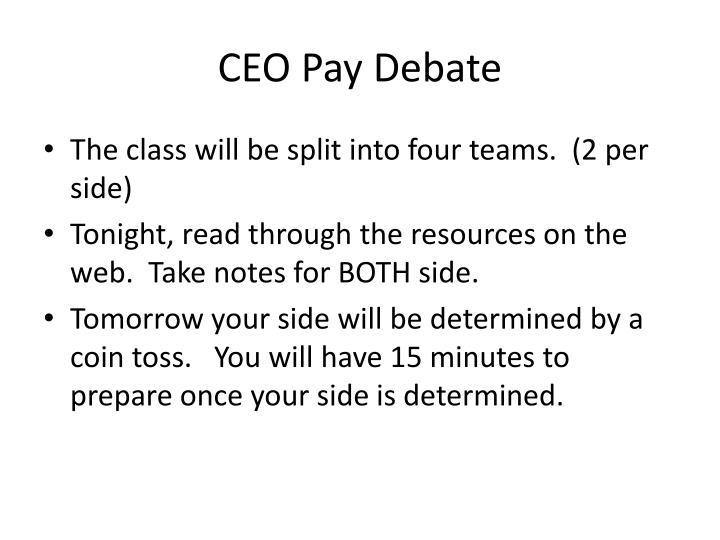 Ceo pay debate