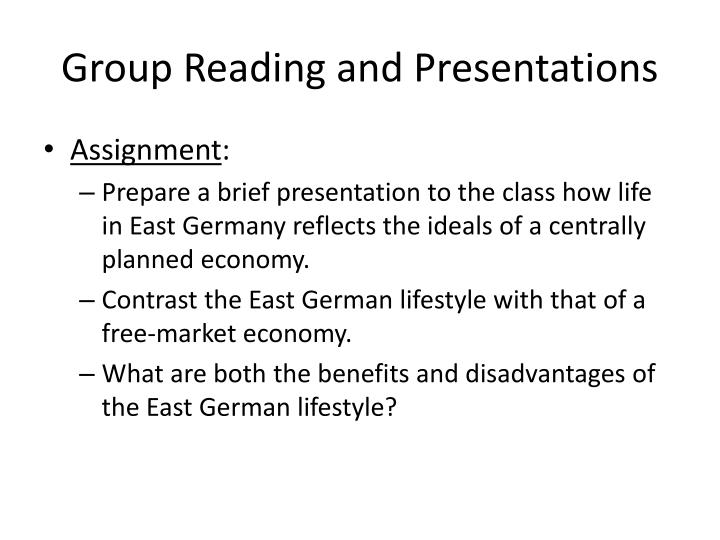 Group Reading and Presentations