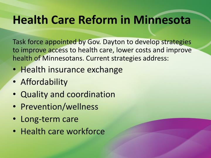 Health Care Reform in Minnesota
