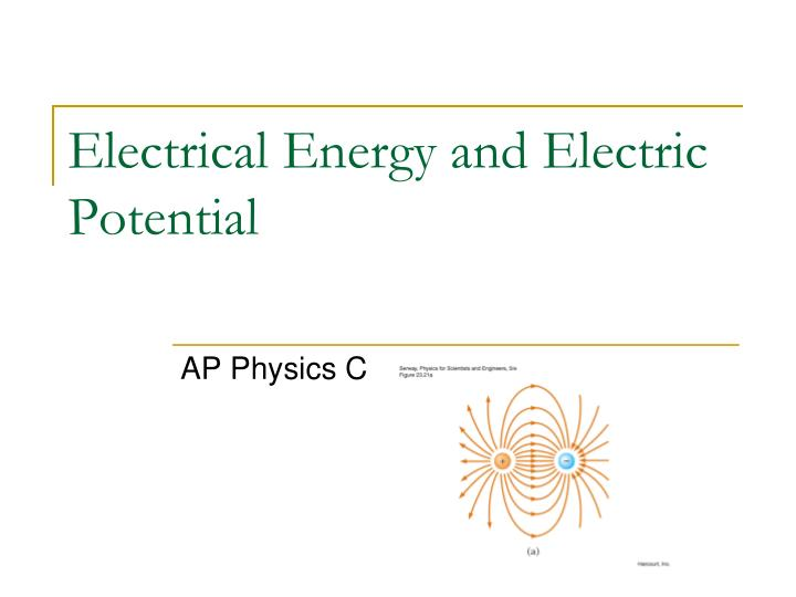 electrical energy and electric potential n.