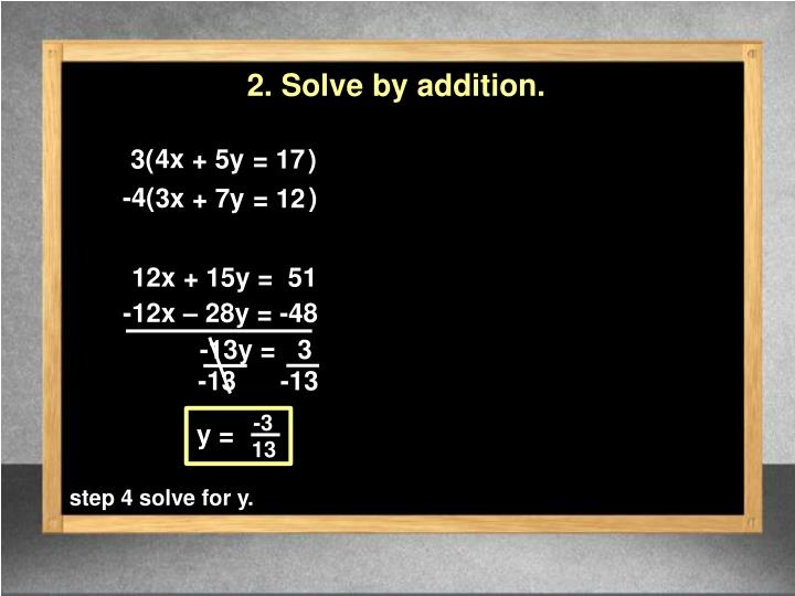 2. Solve by addition.
