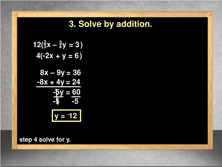 3. Solve by addition.