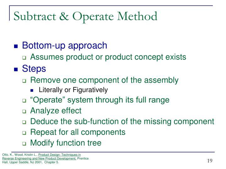 Subtract & Operate Method
