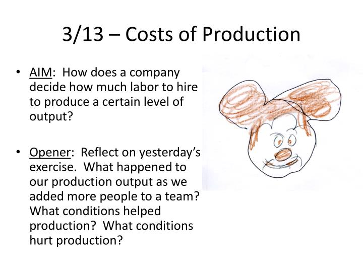 3/13 – Costs of Production